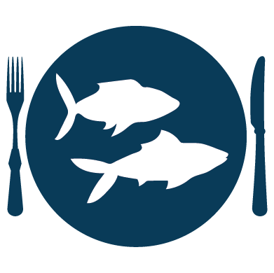 Source fish sustainably icon